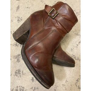 Frye Brown Leather Pattie Riding Bootie Size 7